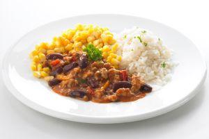 Chili Con Carne Auf Reis Cateringgerichte Für Kinder
